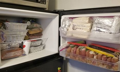 This families freezer is fully stocked!