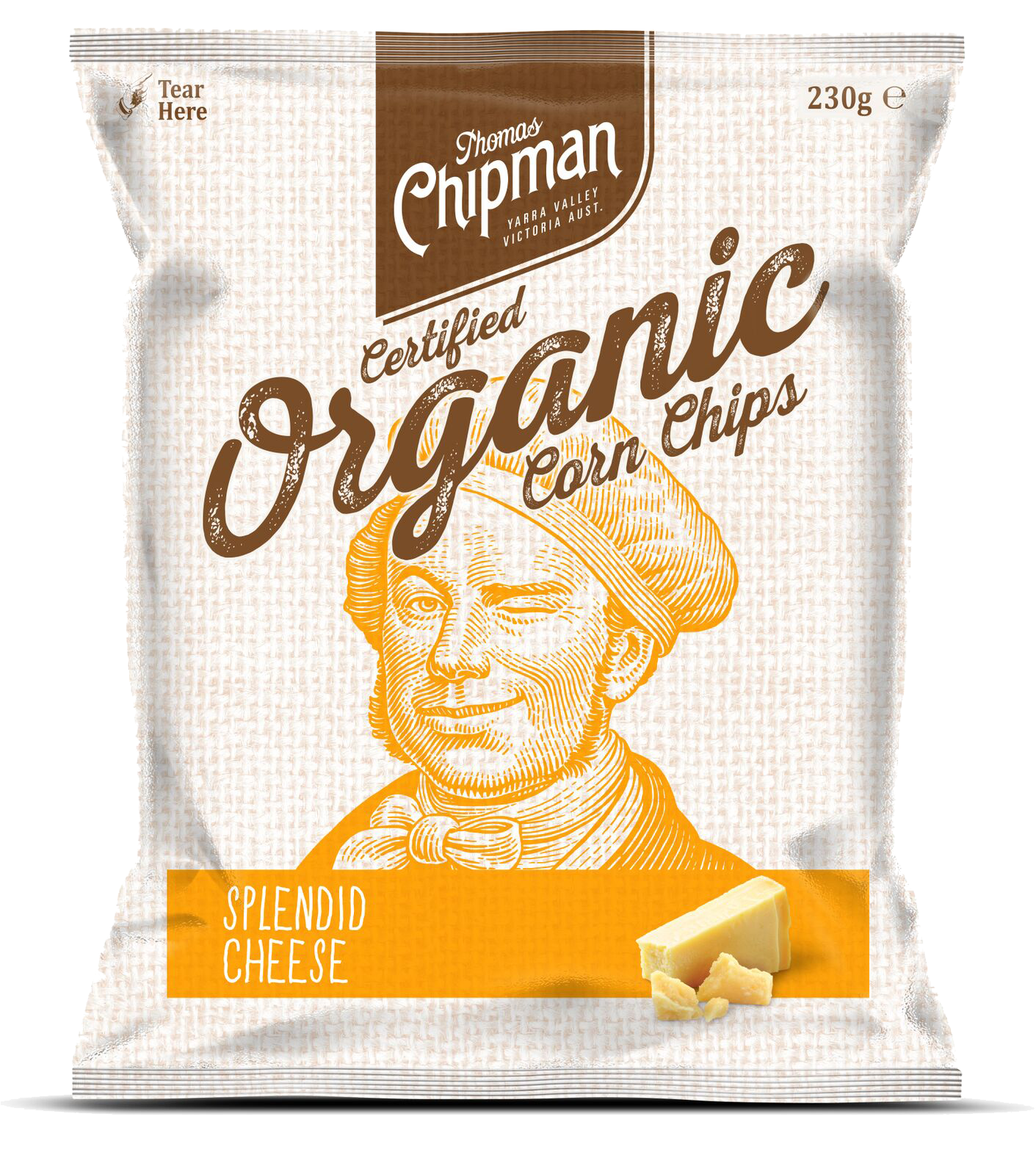 - Thomas Chipman® Splendid Cheese Corn ChipsAt last, a great tasting cheese corn chip without any artificial colours or flavours. The taste is simply splendid. Try this extraordinary chip for yourself. Available in a 500g pack.