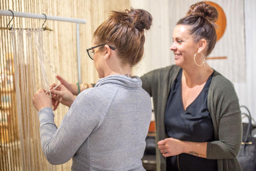 Macrame workshop with  Maude Gypsy .