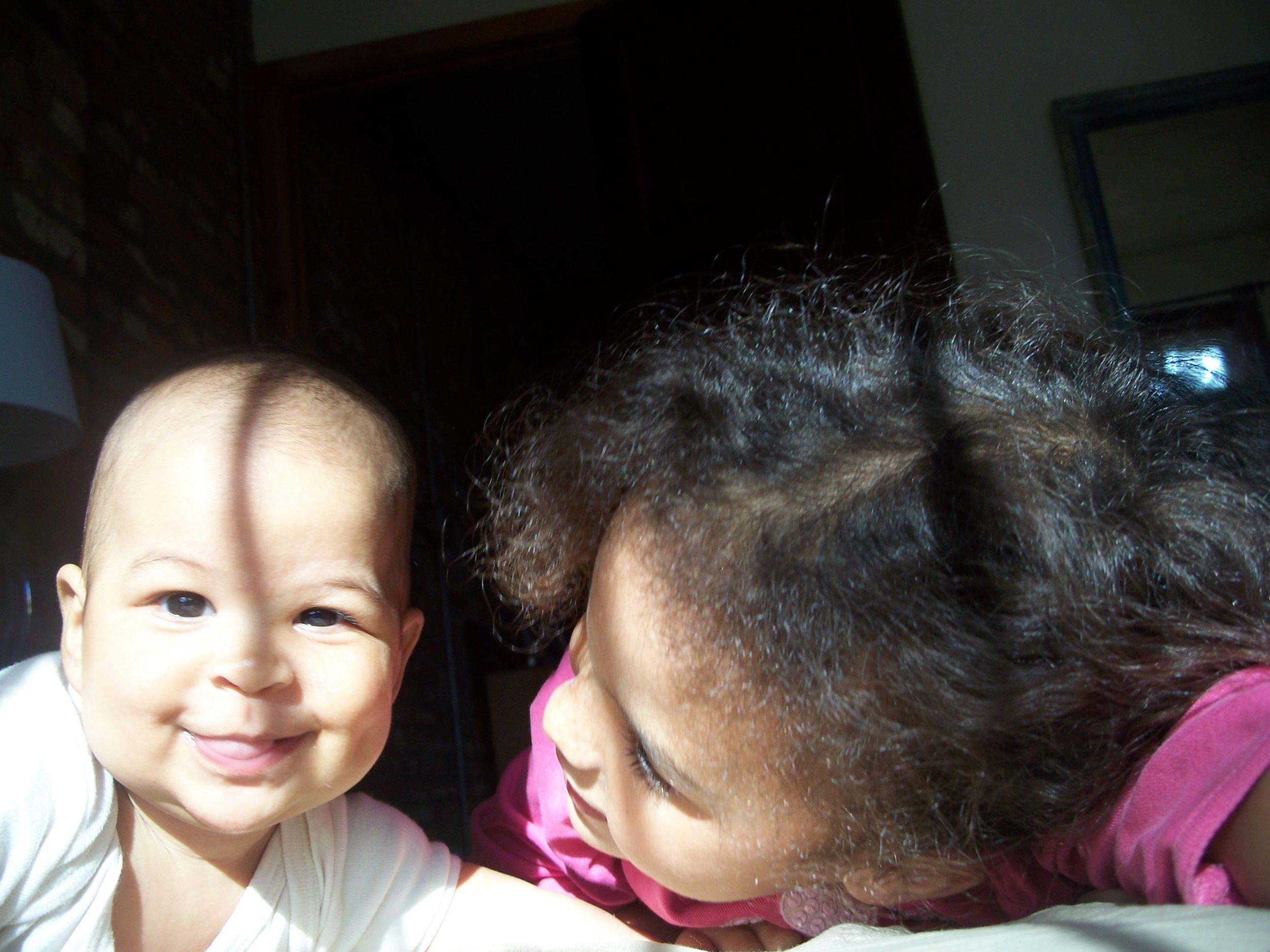 Paz & Lucia having fun.