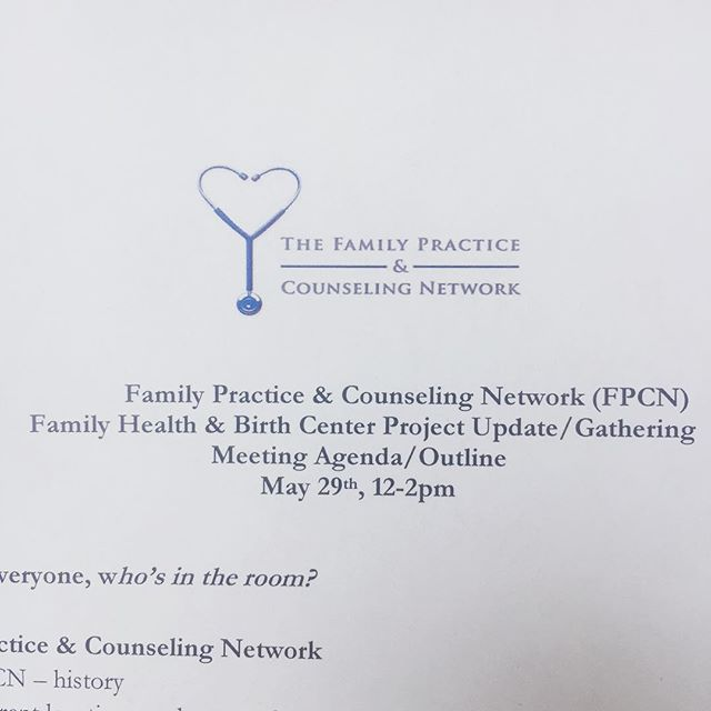 Excited to be part of this gathering about the Family Health & Birth Center project with The Family Practice & Counseling Network. #birthinphilly #birthcenter #reproductivejustice #phillybirth