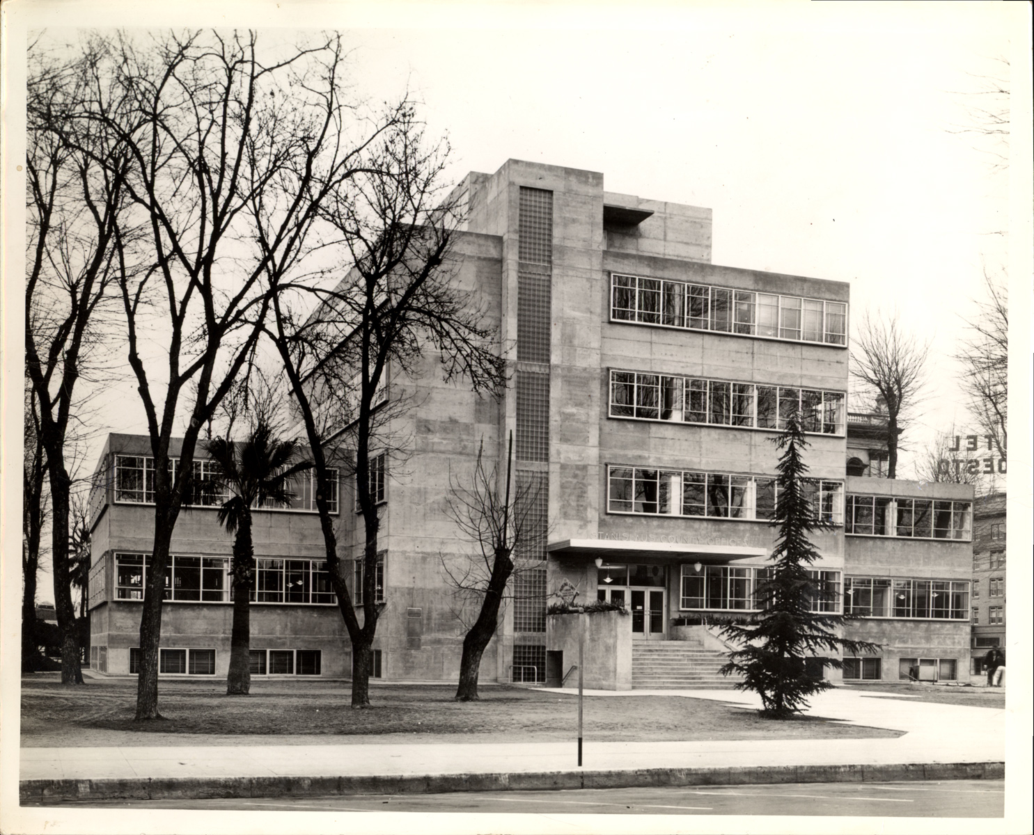 Modesto's Hall of Records (seen here in 1939) is a precious example of the modernist Bauhaus architectural style pioneered in Germany in the early 1900s.