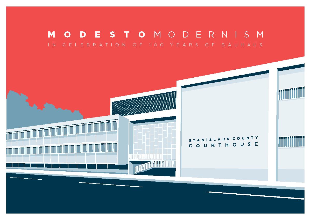 Modesto Modernism poster (Eric Le, 2019)