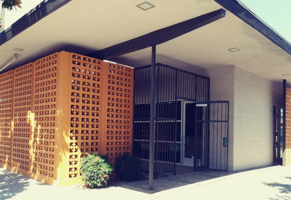 The Germano Milono Building in downtown Modesto, a rare 1960 example of Modesto or Central Valley Modernism, has recently been renovated and is now home to the Modesto Convention & Visitors Bureau.