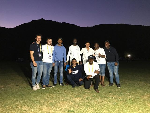 With the guys from CPUT