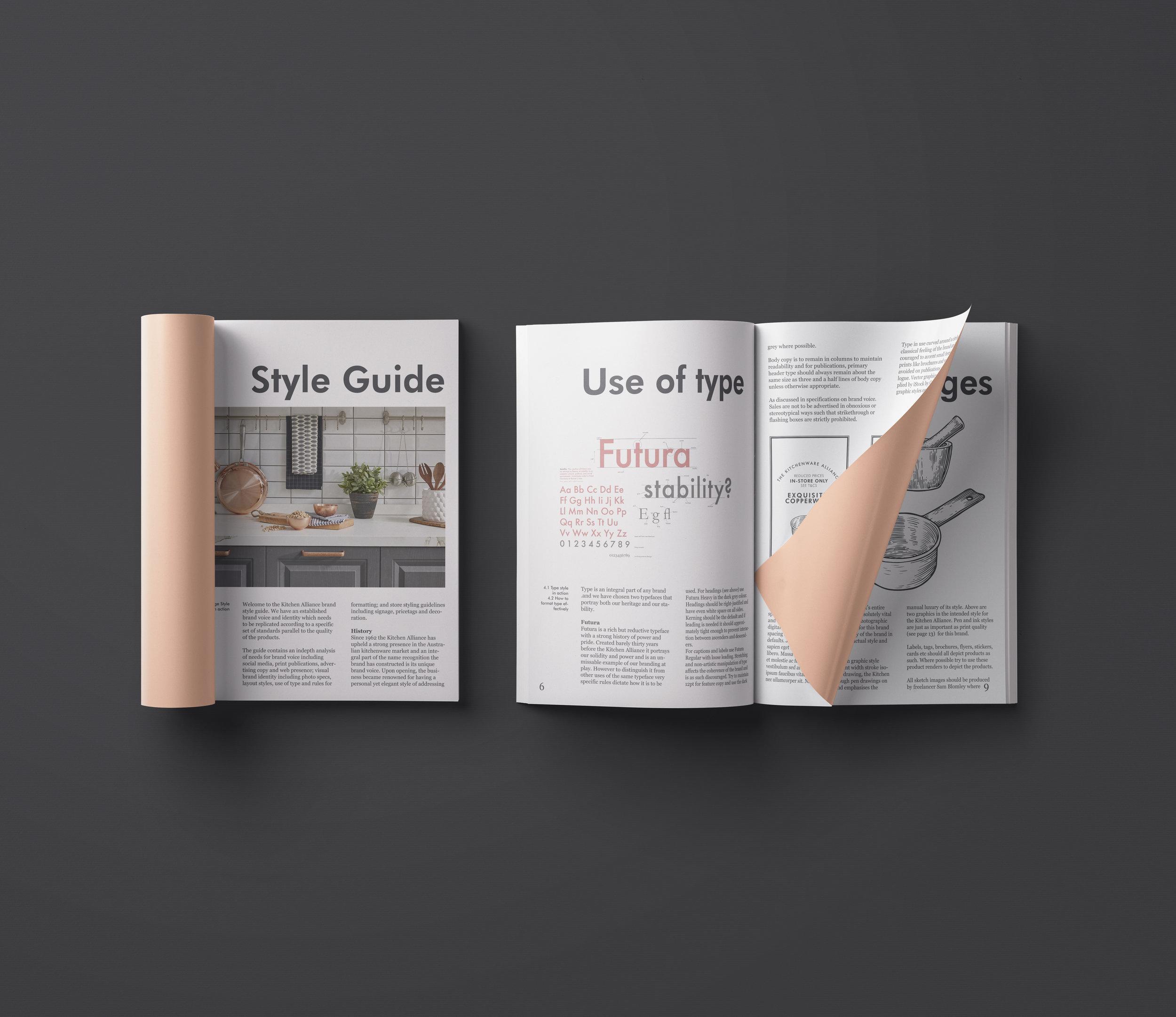 Kitchen Alliance Style Guide Branding Sam Blomley