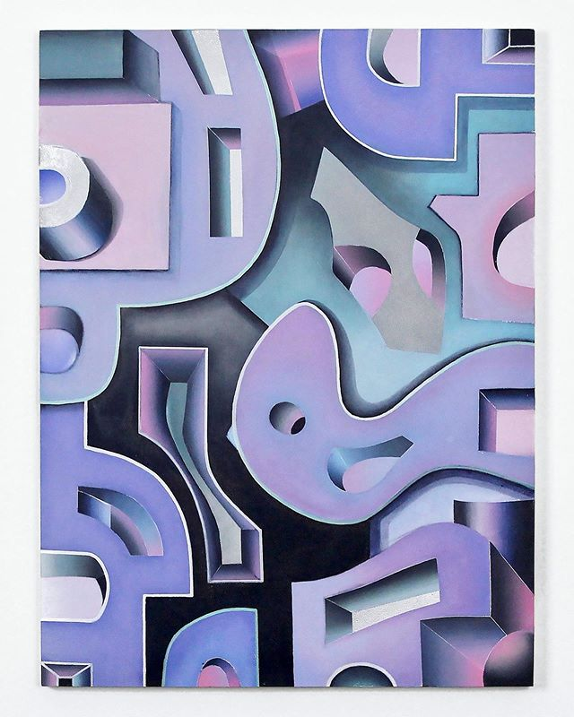 "new artwork ""Dreaming in Color"" 💜 sometimes my dreams are really lilac-purple ☺️, love this color since I was a child, my taste didn't change since than 😊  #art#artabstract#losangelesartists#modernarts#geometryart#daribergart#purplepainting#kievartist#artgallerynyc#architecturalart#арт#искусство#киеварт#лосанджелес#архитектура#картина#абстракция"