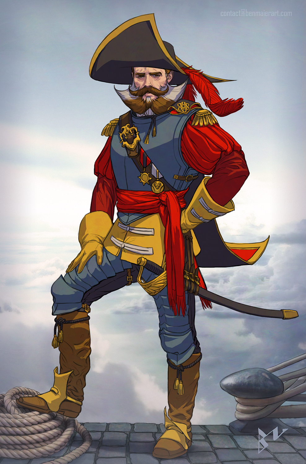 Skycaptain Saunders , Copyright by Ben Maier