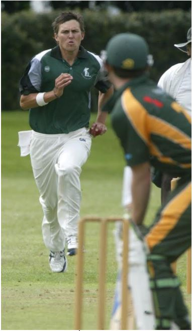 Otumoetai Cadet Trent Boult in action against Mount Maunganui Cricket Club.