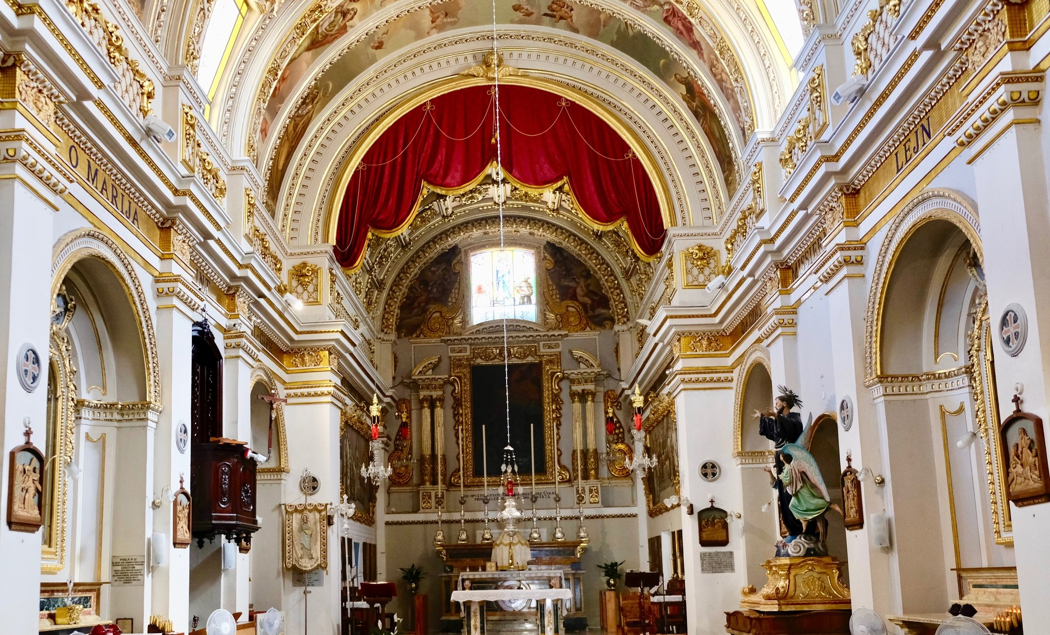 Inside one of the 46 churches on Gozo  © Paul Wheatley