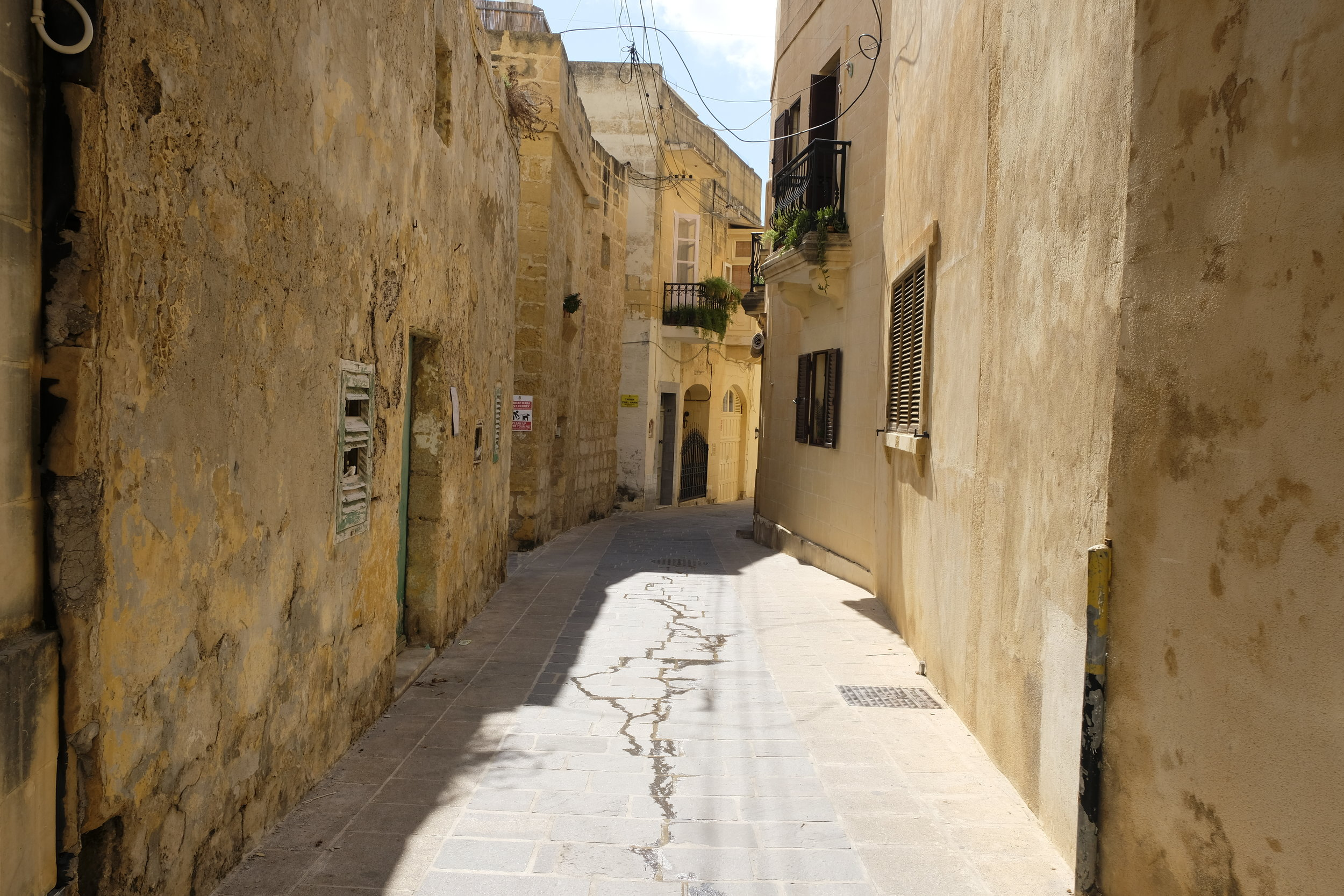 Many of these streets are narrow, with some houses renovated, others in slight disrepair