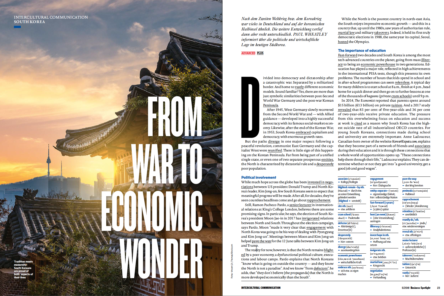 South Korea article for Business Spotlight (issue 5/2018)
