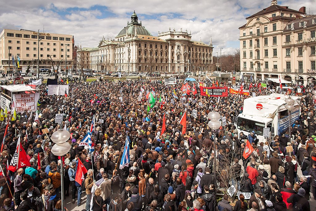 2013 demo in Munich against the far right and in support of victims of the neo-Nazi NSU (linksfraktion: https://www.flickr.com/photos/54639760@N08/8648261182)