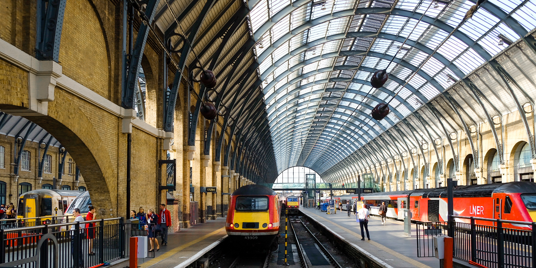 London King's Cross, situated over the road from St Pancras, where most travellers embark and disembark for Eurostar (© Paul Wheatley)