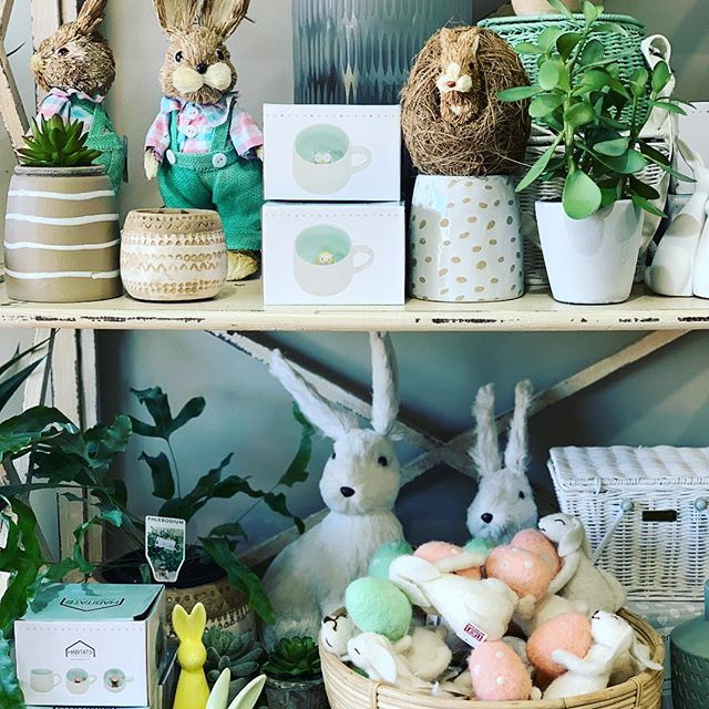 It's Easter time already here with bunnies and cute things everywhere ready for that non chocolate gift or house decorations you're after. We also have a new Myrtle and Moss delivery and so many other lovelies waiting to be discovered #easter #localbusiness #gorgeousblooms