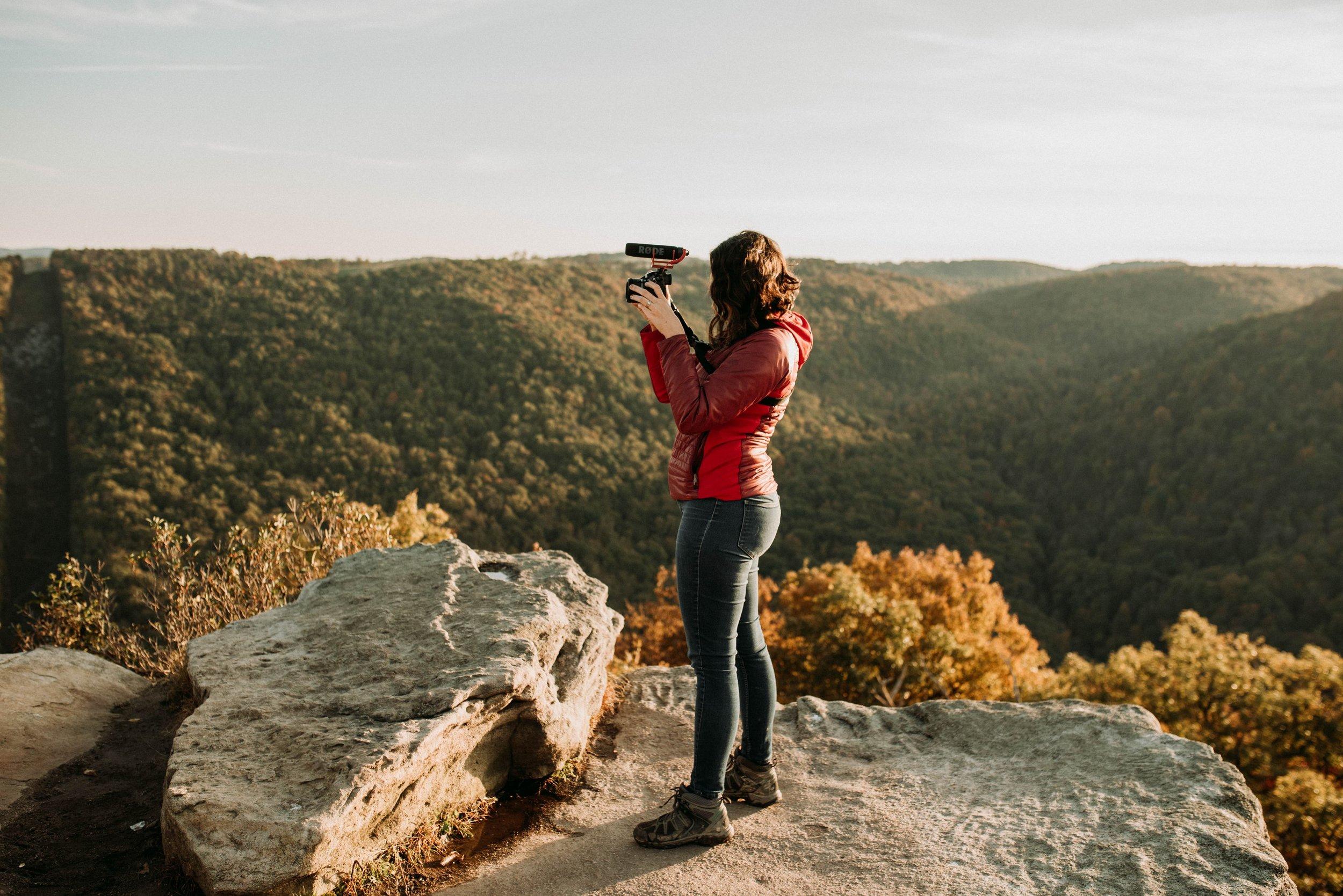 Destination videographer rode microphone gh5 hike