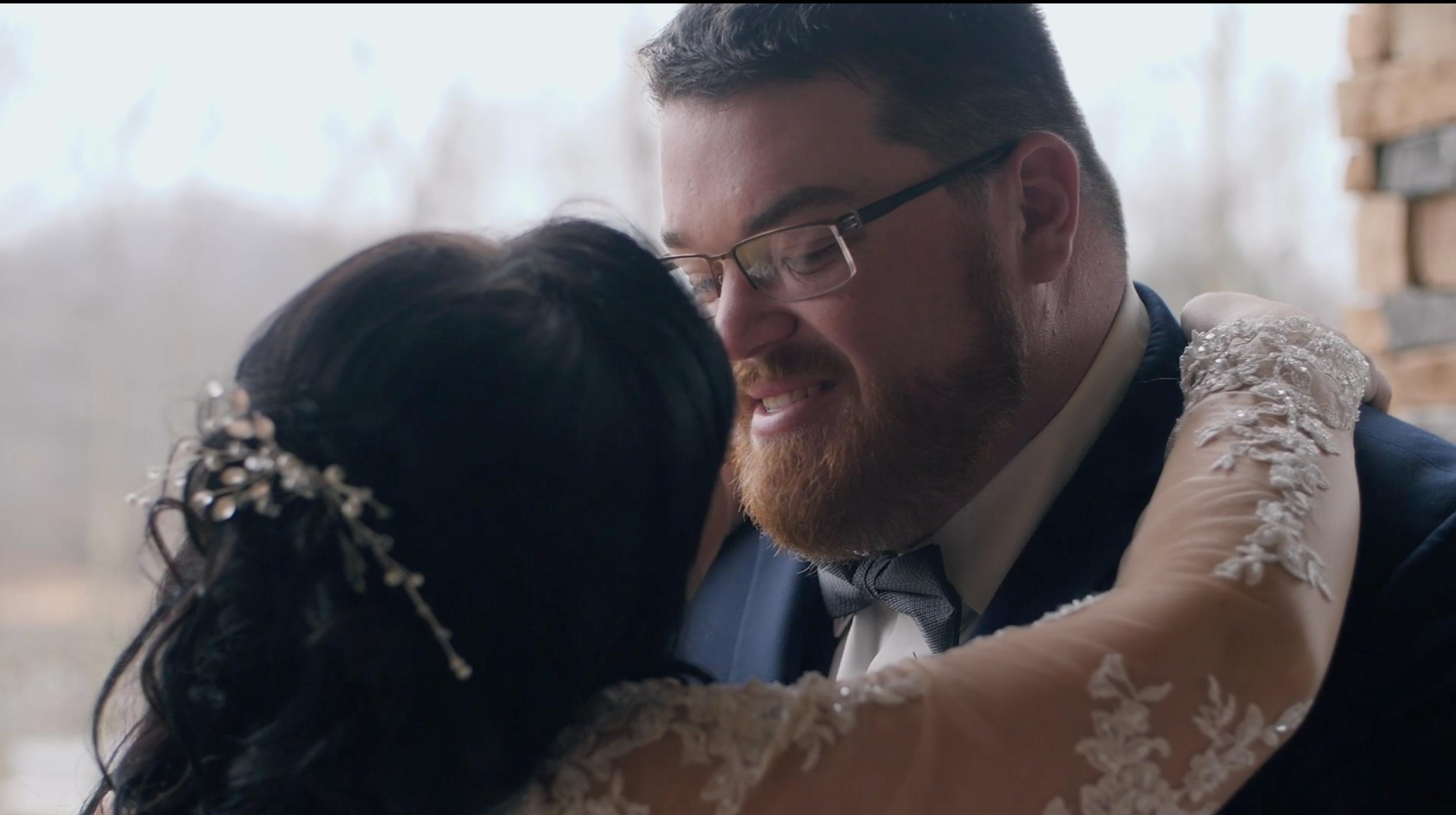 Bride groom wedding idea winter reclick kiss romantic intimate