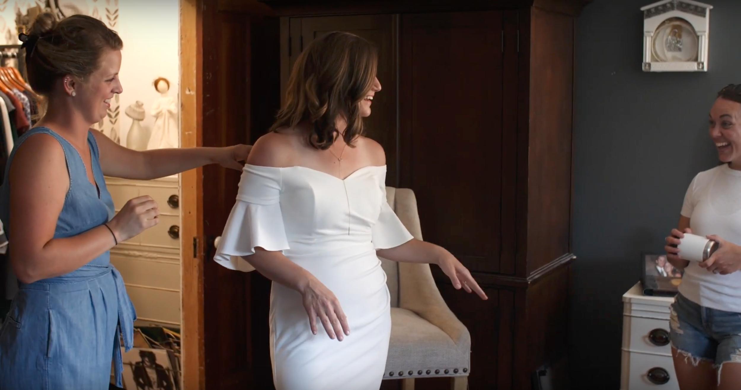 Calvin Klen wedding dress