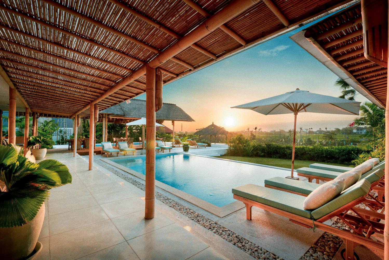 Sunset at Bloomfield Bali in Umalas