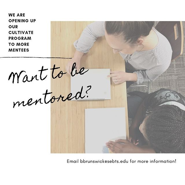 Are you interested in being mentored? Women Around SE hosts a program called Cultivate where women are paired up based off of their church, interests, and meeting time requirements. Email bbrunswick@sebts.edu for more information, or follow the link in the bio to sign up!