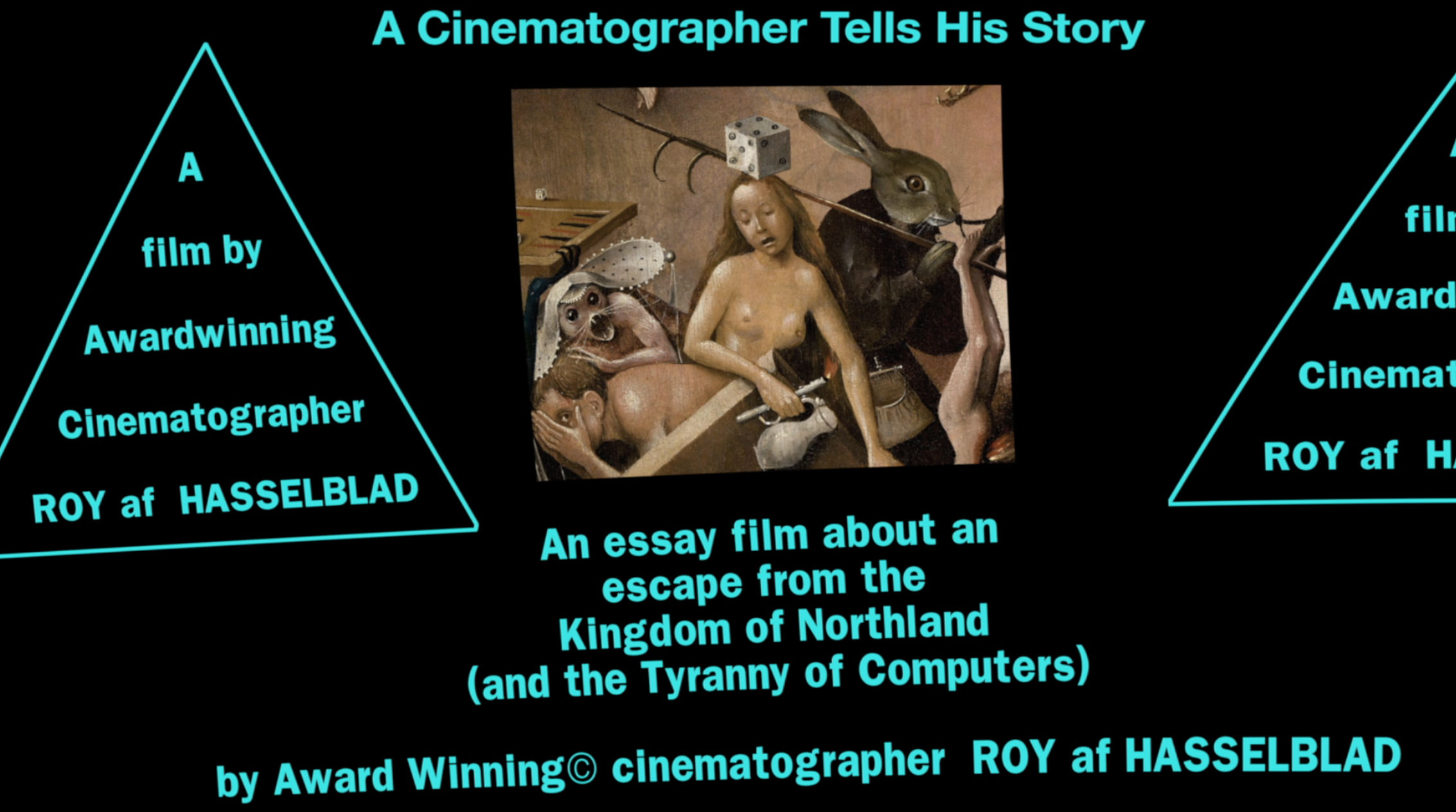 Roy is working on his own film. Here we learn of his reactionary understanding of cinema, misguided by nostalgia, misogyny and privilege.
