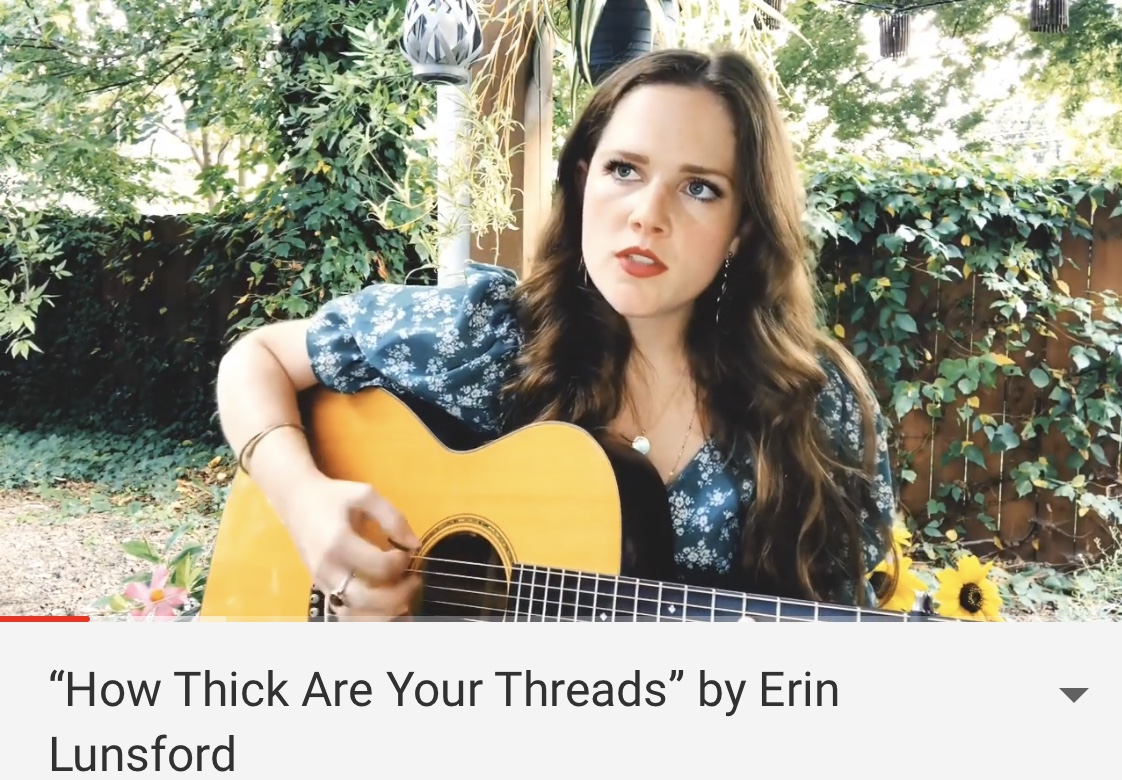 """Listen to Erin's Latest Original """"How Thick Are Your Threads"""" -"""