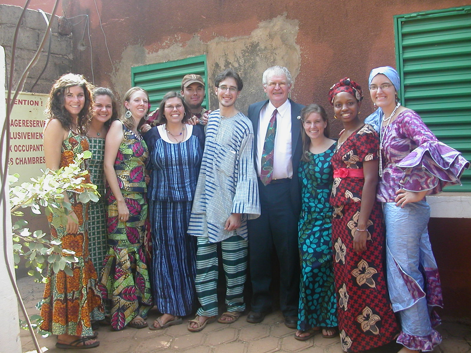 Douglass Teschner with Peace Corps Volunteers in West Africa.