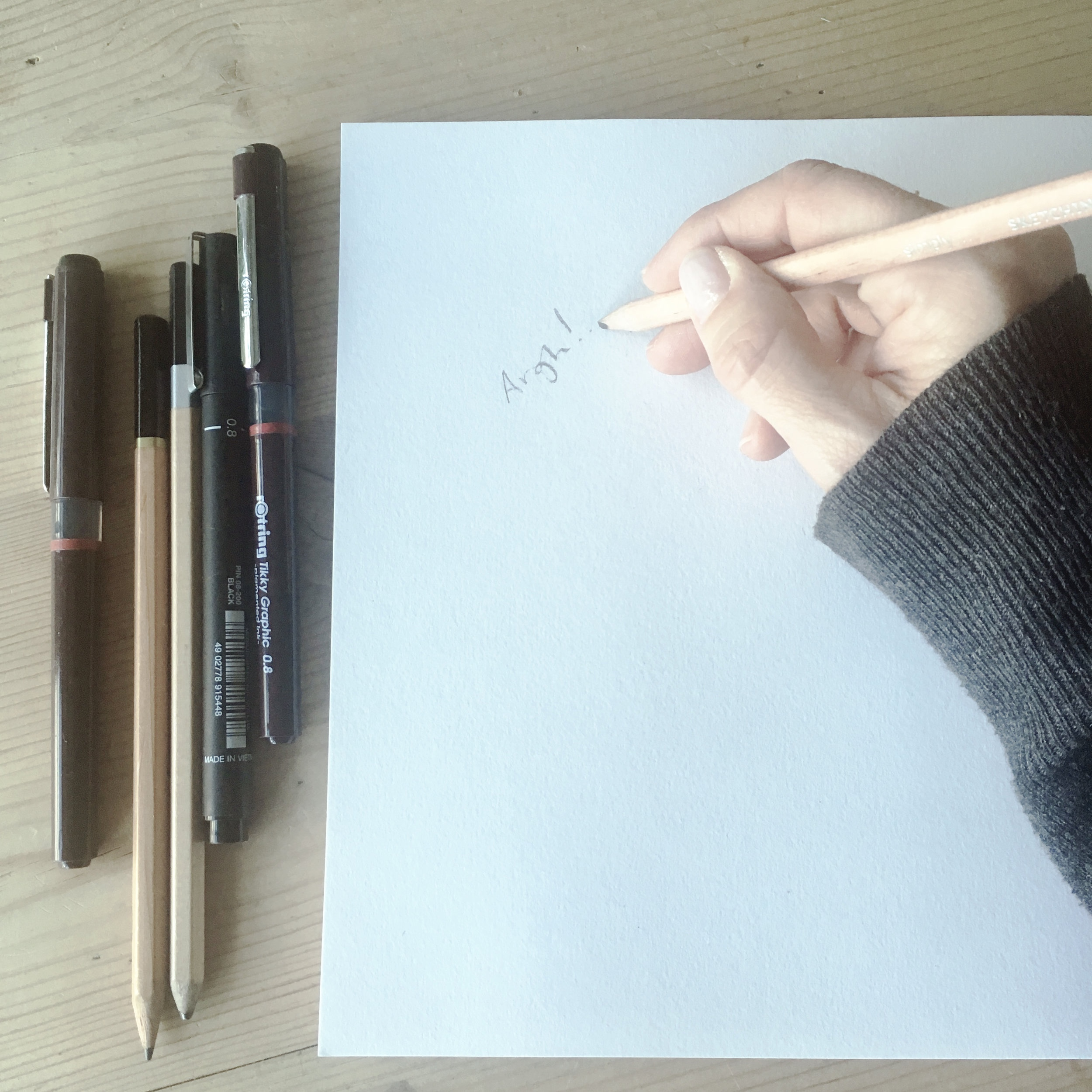 But what to draw? What if it's rubbish?