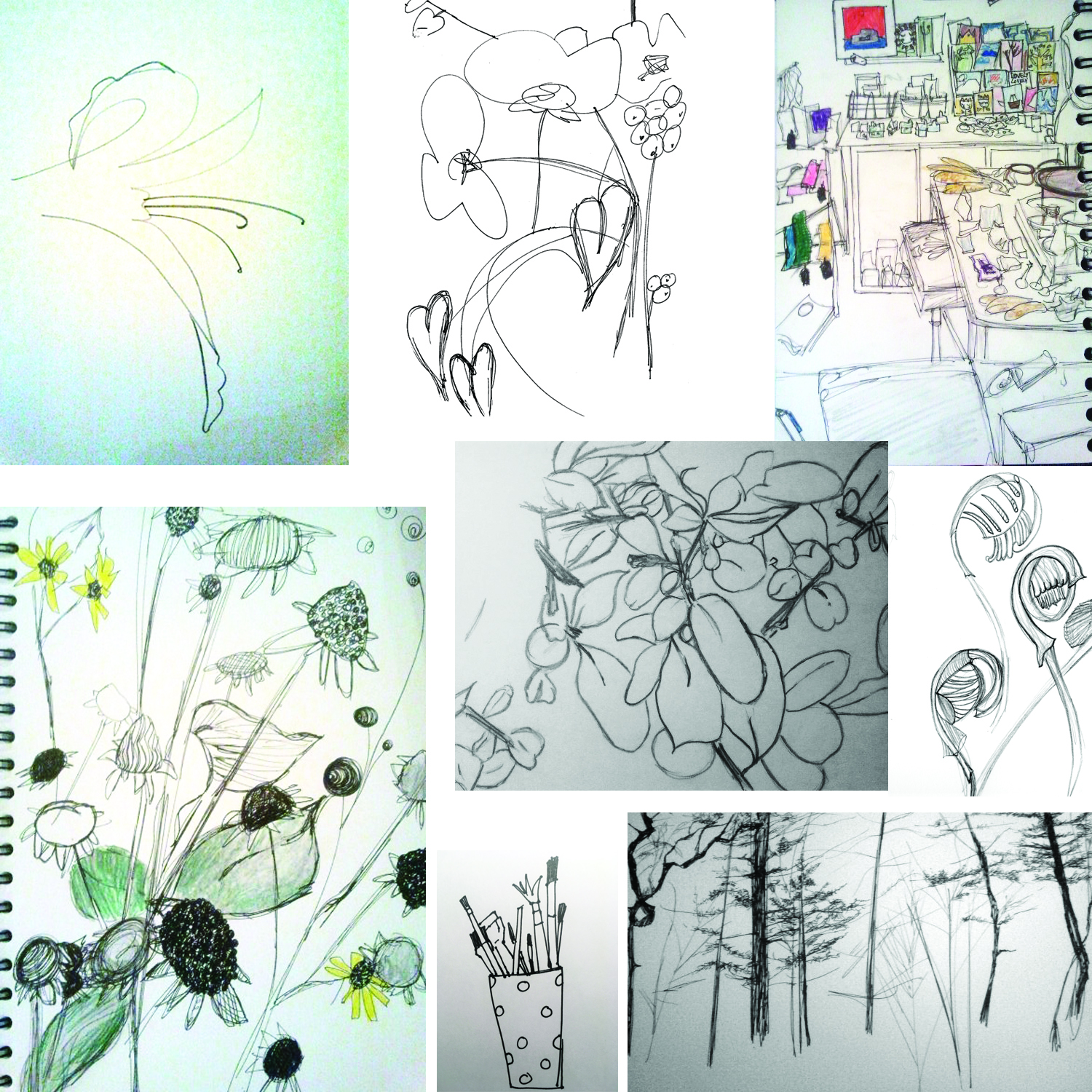 My first sketches. 2012.
