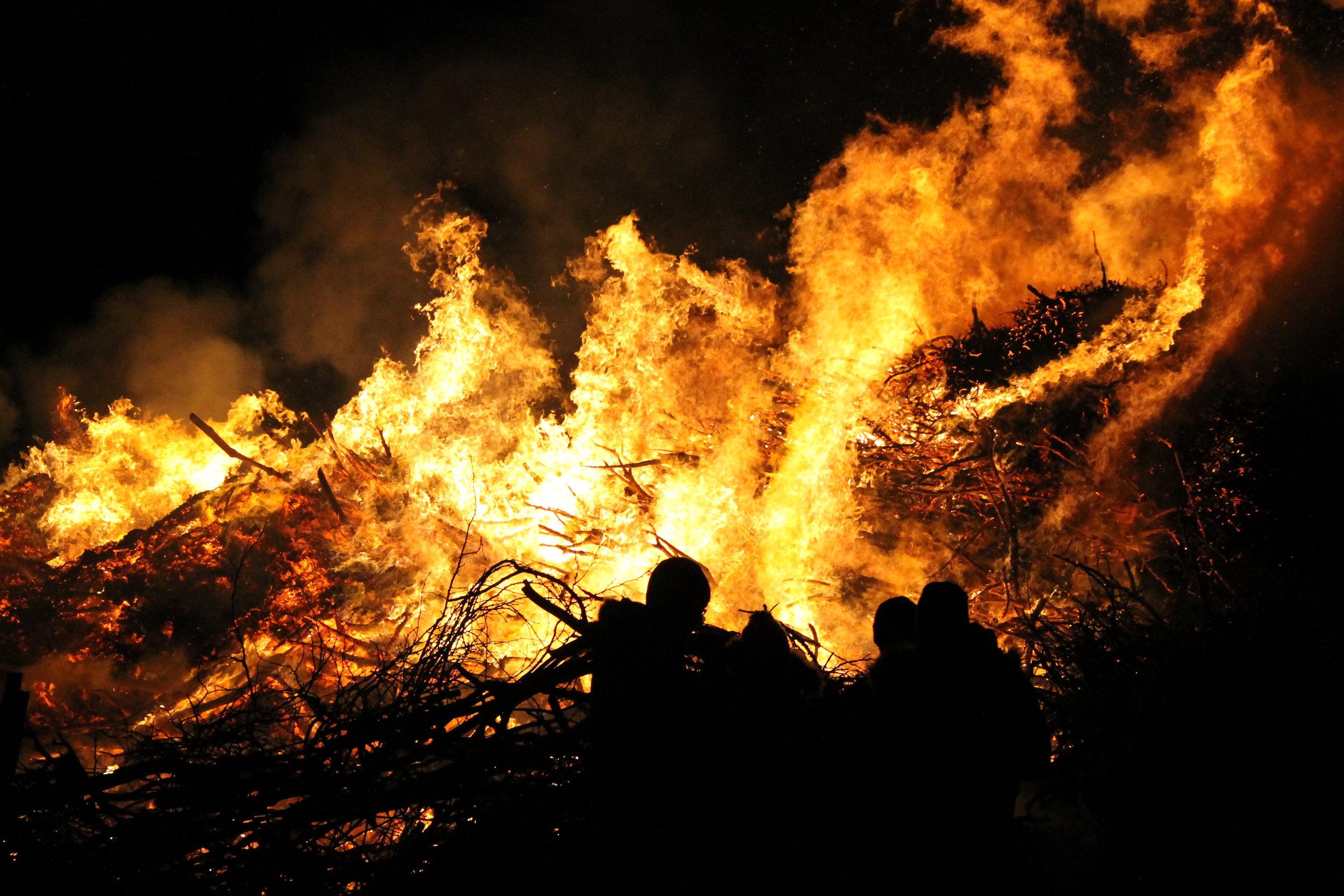 Biike Feuer in Nordfriesland