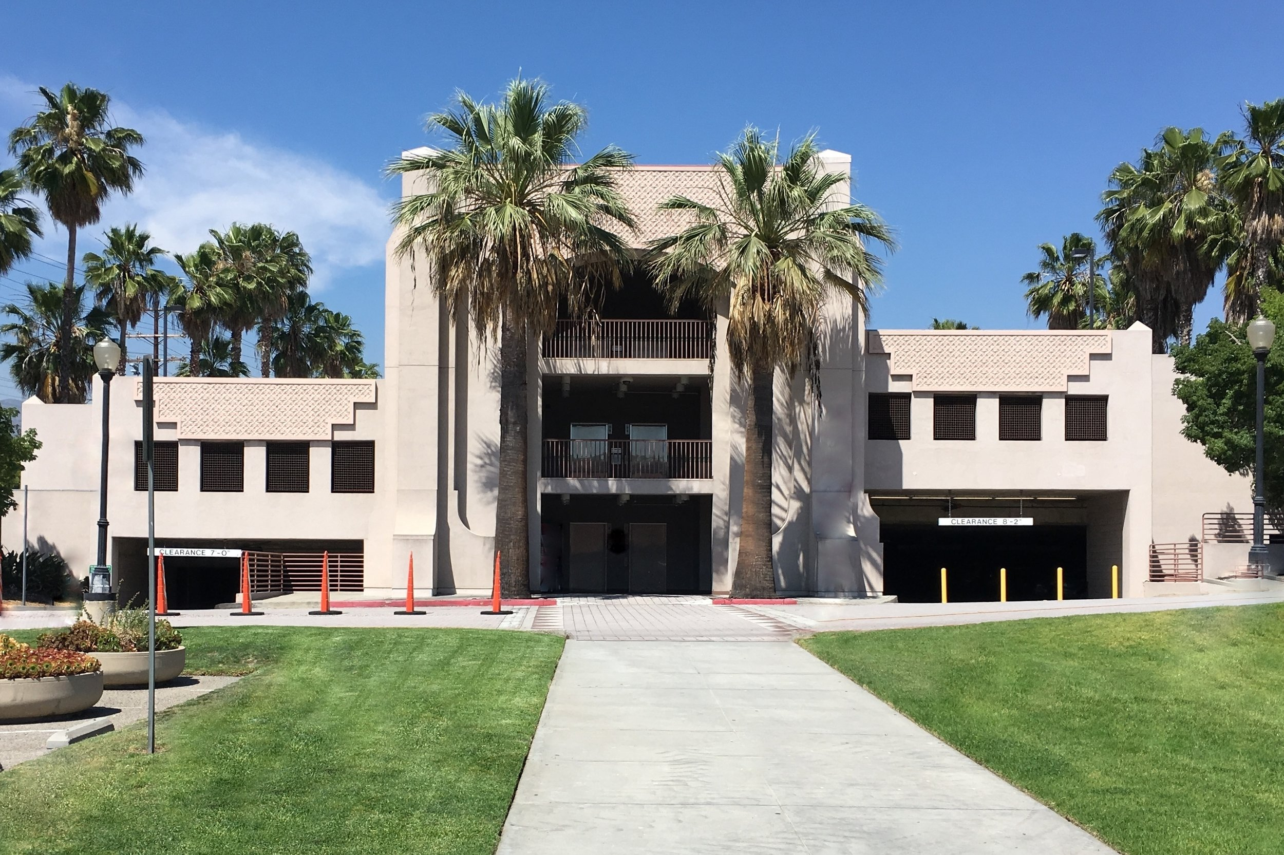The Glendale Civic Center's dedicated parking structure accommodates over 500 vehicles