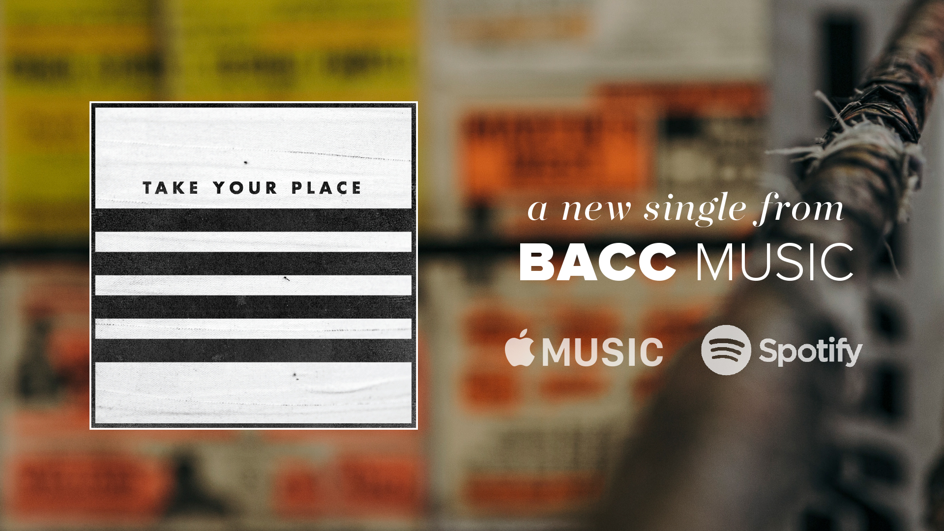 TAKE YOUR PLACE - A new single from BACC Music. Follow the link below to listen on Spotify.