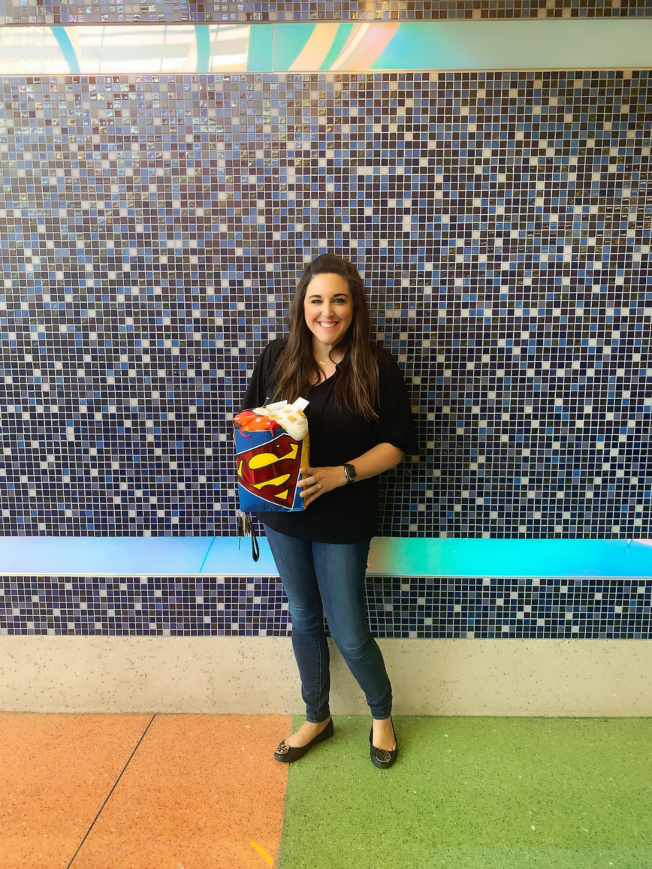 Noelle from Team Hallie launching the Hallie Helper program at PHX Children's Hospital