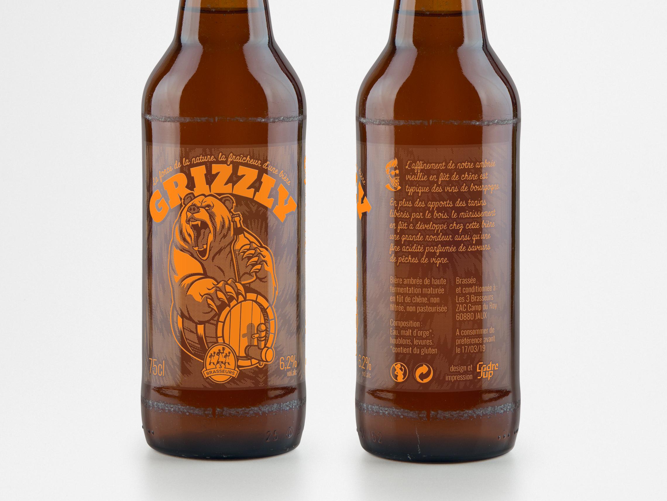 Création d'une étiquette de bière, simulation du résultat à l'écran
