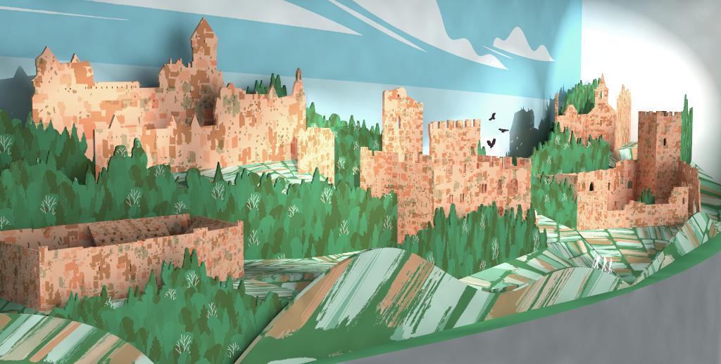 Création d'une vitrine, simulation 3D manipulable