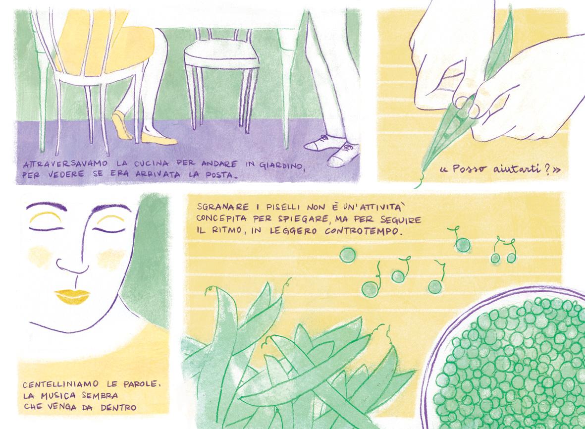 """Testi tratti dal racconto """" Aiutare a sgranare i piselli """" da """" La prima sorsata di birra """" di Philippe Delerm - Oscar Mondadori, 1999"""