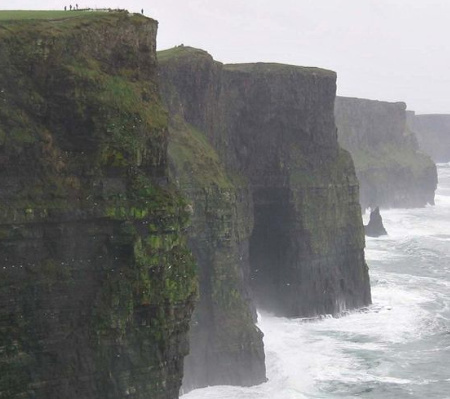 Cliffs of Moher is a great hiking area