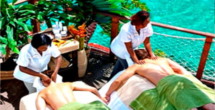 There is nothing like relaxing in a spa as a couple but an outdoor (or open air) massage is even better. These are very popular in many beach destinations.