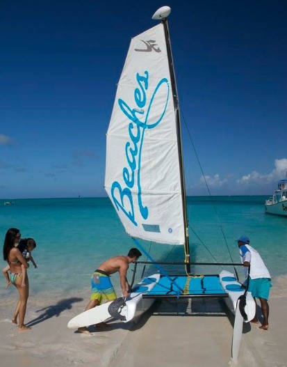 Sailing is just one of the many activities you can do at Beaches