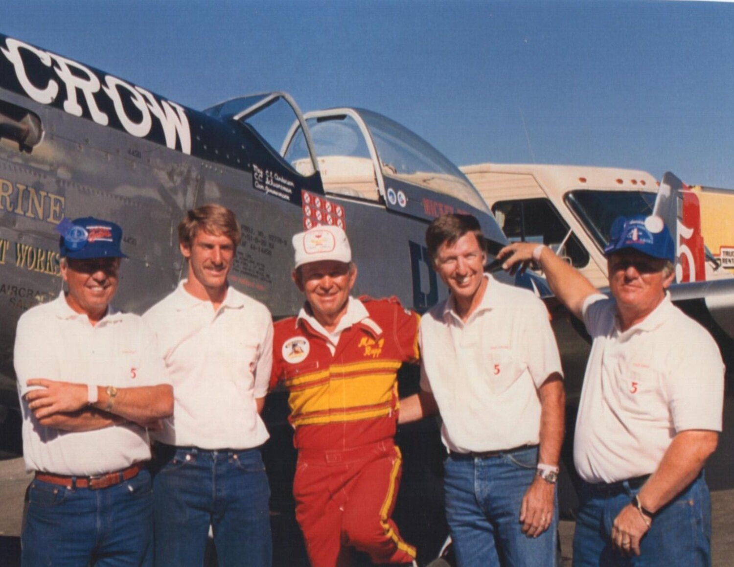 MICK WITH HIS RACING CREW
