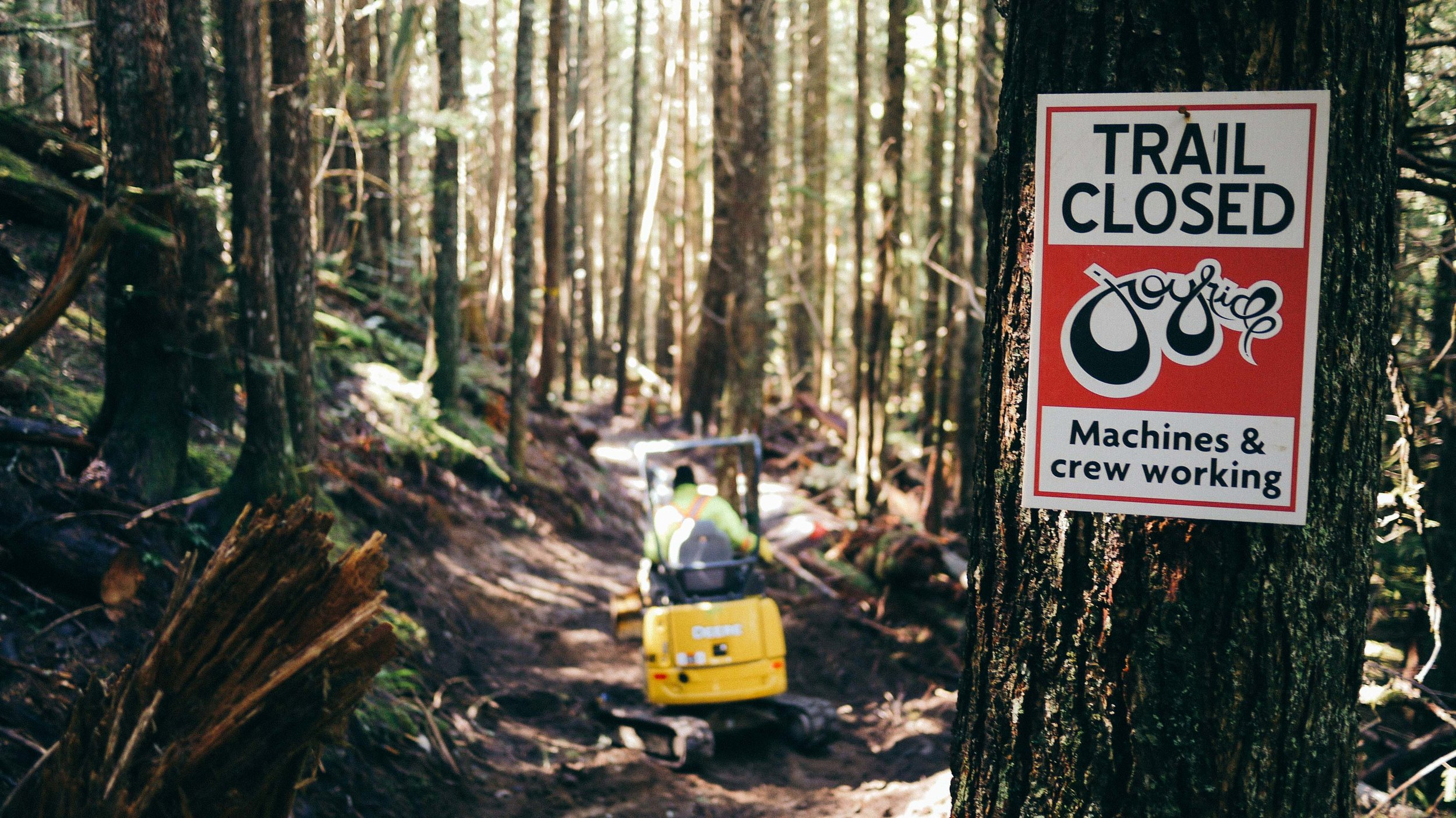 trail building services, machines and crew working