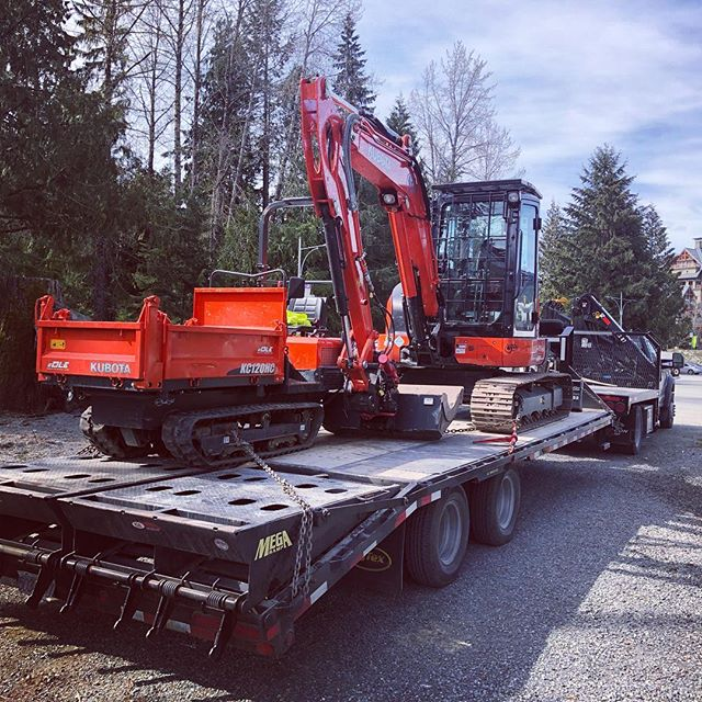 Another load of iron trail shapers. We're deploying gear daily now #gameon #trytokeepup #teamkubota #joydiggers