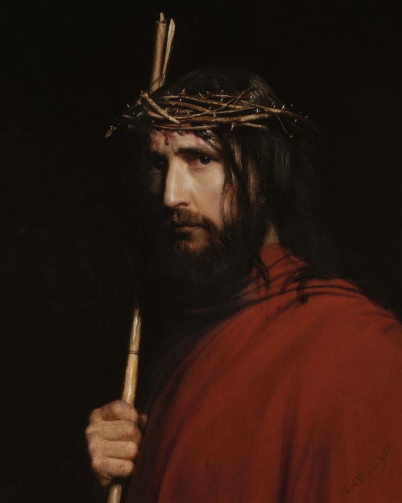 """Christ with Thorns""by Carl Heinrich Bloch"