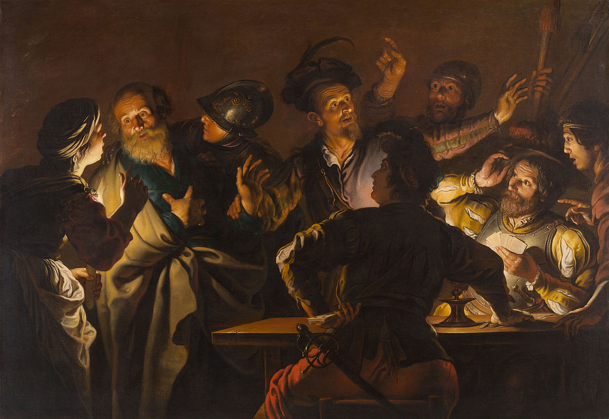 The Denial of St. Peter . circa 1620-1625. Gerard Seghers.