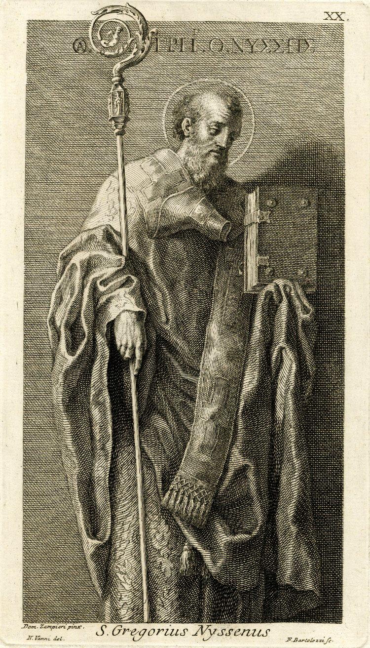 Saint Gregory of Nyssa. By Francesco Bartolozzi after Domenichino