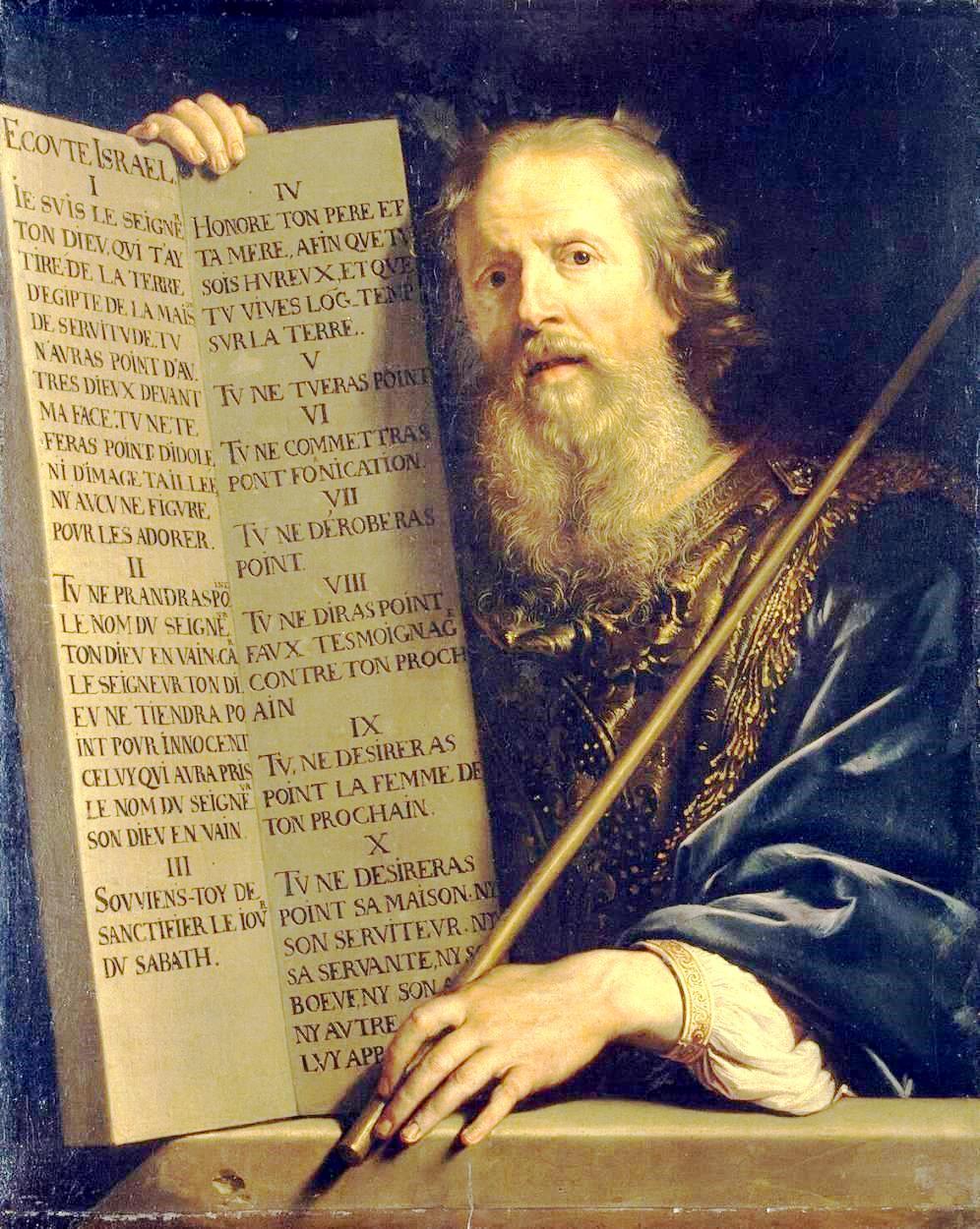 Philippe de Champaigne - Moses with the Ten Commandments
