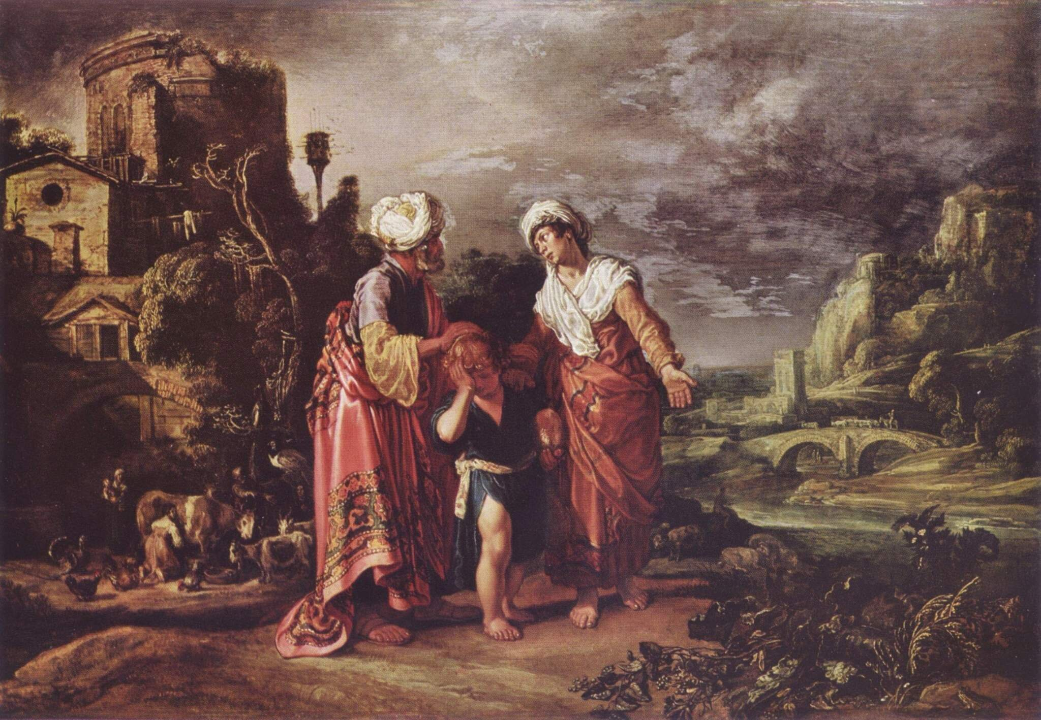 The dismissal of Hagar  by  Pieter Pietersz Lastman .