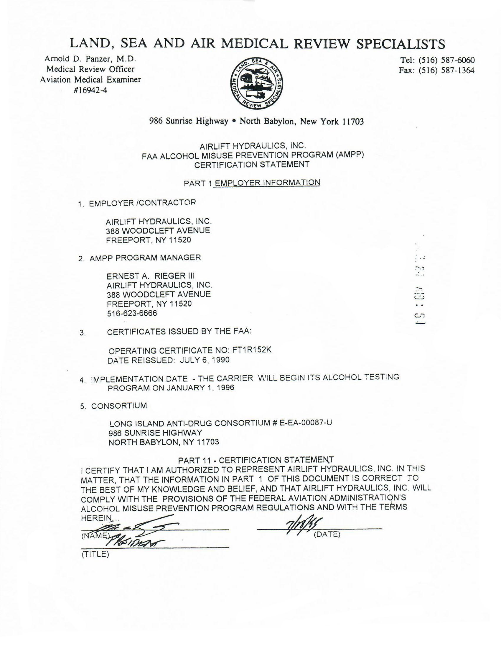 LSA / FAA AMPP