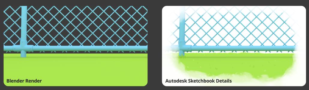 From Blender to Sketchbook