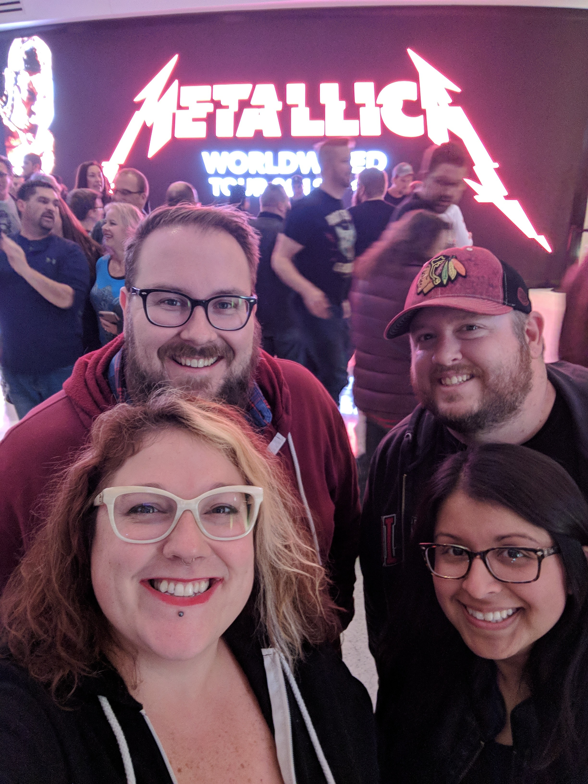 Steve, Kevin, Janet, and Sara at the Fiserv to see METALLICA!
